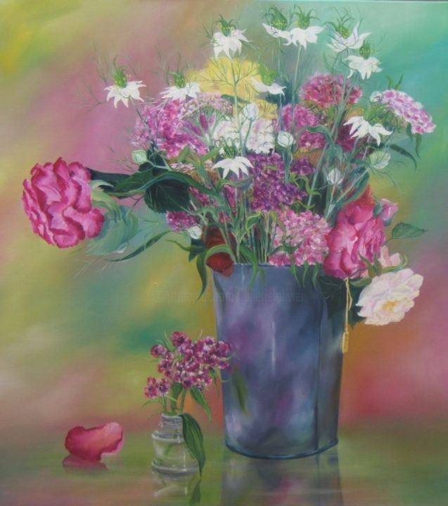 bouquet - Painting, ©2013 by Patricia Blanchet -