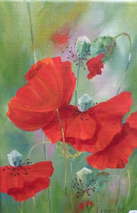 coquelicots - Painting, ©2013 by Patricia Blanchet -
