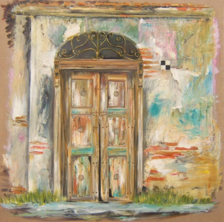 porte à Istambul. - Painting, ©2013 by Patricia Blanchet -