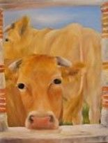 vaches - Painting, ©2013 by Patricia Blanchet -
