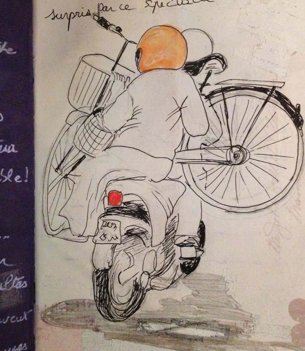assistance vélo - Drawing ©2015 by Patricia Blanchet -