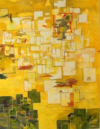 BRIGHTNESS - Painting,  152x122 cm ©2010 by Chris RORO -                            Abstract Art, ART CONTEMPORAIN