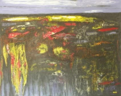 CHAOS - Painting,  152x122 cm ©2010 by Chris RORO -                            Contemporary painting, ART CONTEMPORAIN
