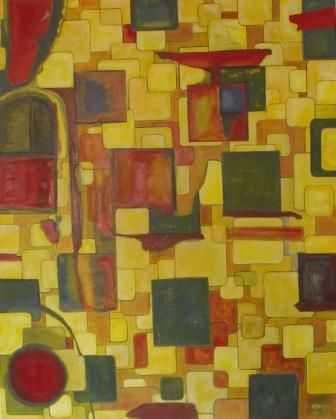 TRACK TO LIFE - Painting,  152x122 cm ©2010 by Chris RORO -                            Contemporary painting, ART CONYEMPORAIN