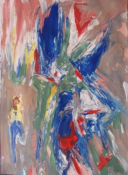 Painting,  60 x 43 cm ©2011 by Ulrich De Balbian -  Painting, Abstract Painting, abstract
