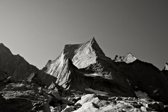 PIZZO BADILE (Suisse/Italie) - Photography,  80x60 cm ©2009 by Pierre VALLET -