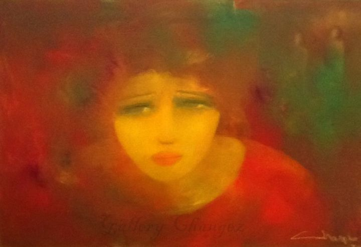 """Painting titled """"The Divided Self"""" by Sultan Sara, Original Art, Oil"""