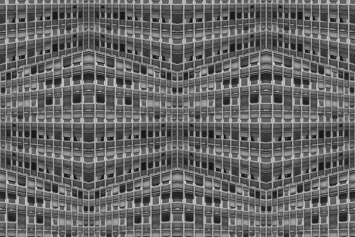 Perspicere I - Photography,  60x90x0.1 cm ©2017 by Igor Andjelic -                                                            Modernism, Paper, Architecture, photography, black&white