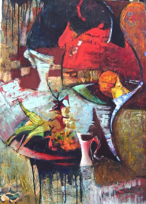 still life3 - Painting,  70x50 cm ©2016 by Galya Didur -                                        Contemporary painting, Canvas