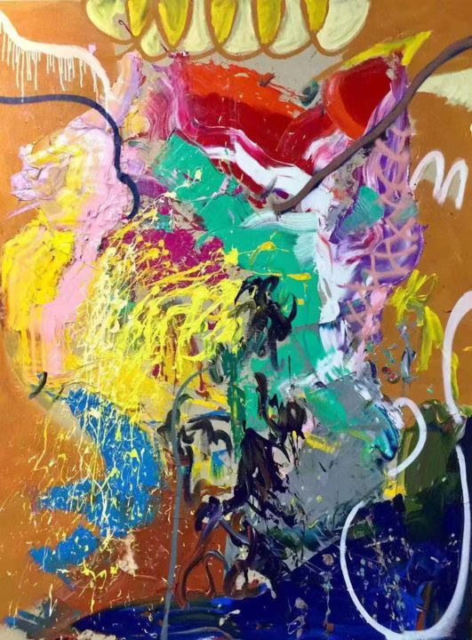 """Painting titled """"Free Abstract Image…"""" by Gao, Original Art, Oil"""