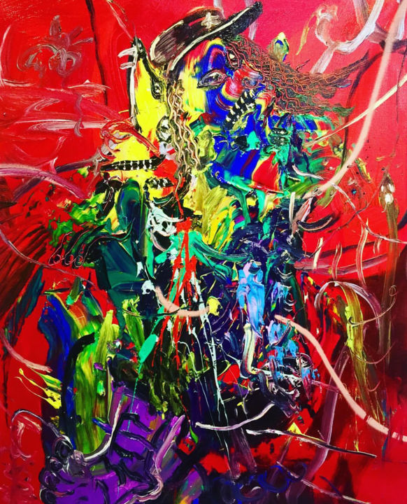 Chaotic Relationship Abstract Painting Painting By Gao