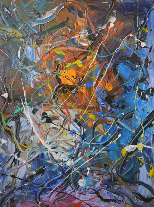 """Painting titled """"Chaos (2) - Abstrac…"""" by Gao, Original Art, Oil"""
