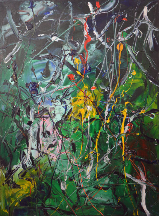 """Painting titled """"Chaos (3) - Abstrac…"""" by Gao, Original Art, Oil"""
