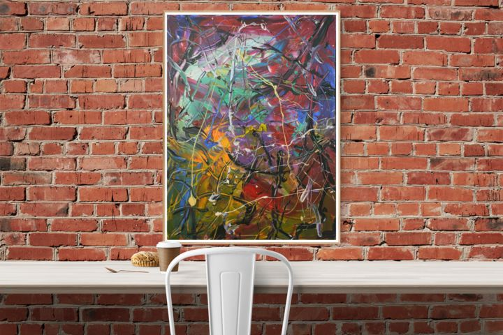 """Painting titled """"Chaos (6) - Abstrac…"""" by Gao, Original Art, Oil"""