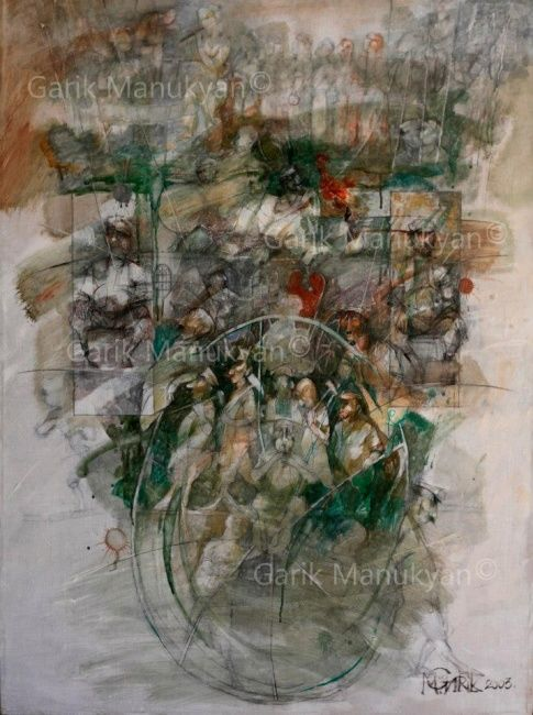 Painting,  75 x 100 cm ©2003 by Garik Manukyan -  Painting