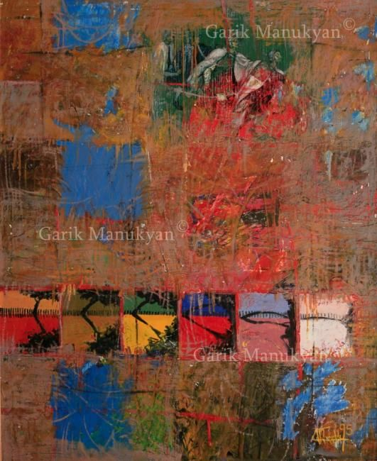 Painting,  75 x 100 cm ©1995 by Garik Manukyan -  Painting