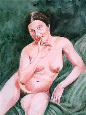 """Painting titled """"Nude Study"""" by Gary Stearly, Original Art,"""