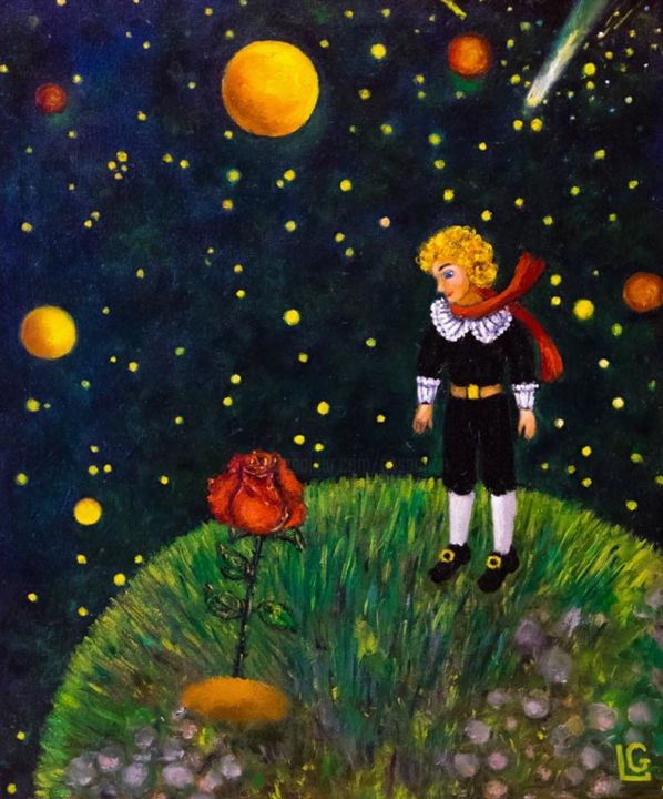"""Painting titled """"Le Petit Prince"""" by Gasparian, Original Art, Oil"""