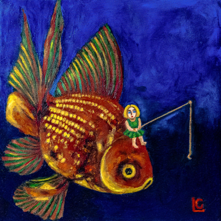 """Painting titled """"Back from the Deep…"""" by Gasparian, Original Art, Oil"""