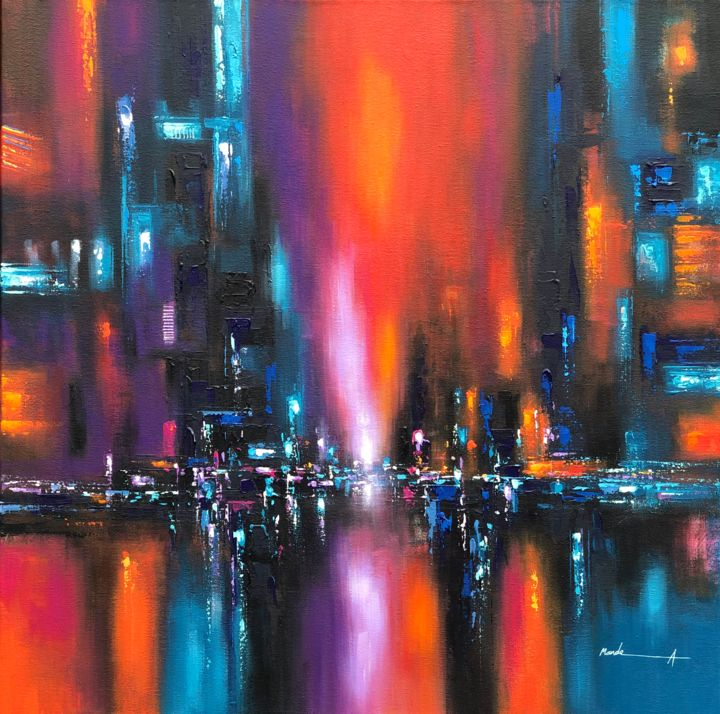 """Painting titled """"Endless"""" by Ahmed Mande, Original Art, Acrylic Mounted on Stretcher frame"""
