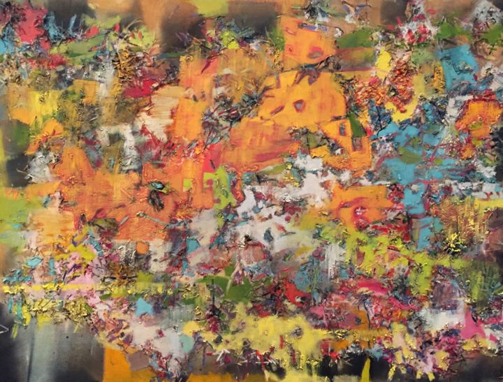 """Painting titled """"Evidence #9"""" by Gayle Sachs, Original Art, Pastel"""