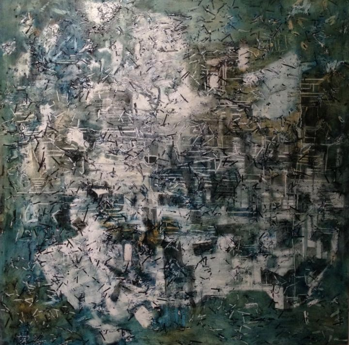 """Painting titled """"Evidence #3"""" by Gayle Sachs, Original Art, Oil"""