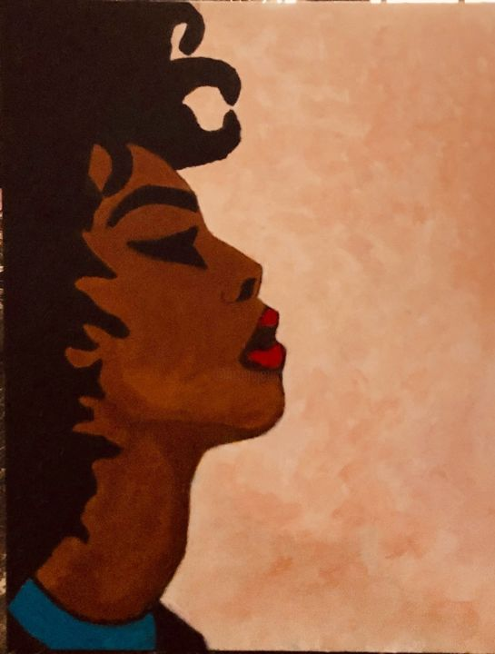 """Painting titled """"Afro"""" by Georges Bettan, Original Art, Acrylic"""