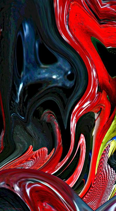 Black or space-making lighting. - Photography, ©2011 by Gerrit Cnossen -                                                                                                                                                                                                                                                                                                                                                                                                                                                                                                                                                                                                                                                                                                                              Figurative, figurative-594, Abstract Art, Cartoon, Dark-Fantasy, Outer Space, Dogs, black, ghost, intruder, red, yellow, donald duck, seal, spooky