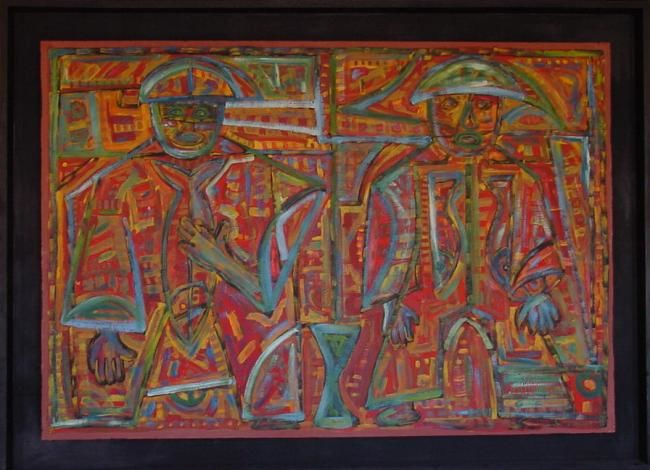 """Painting titled """"Pesca"""" by Gustavo Graña Di Candia, Original Art,"""