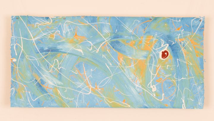 Tableau n°37 - Painting,  34x71 cm ©2015 by GeoD -                                                            Abstract Art, Canvas, Abstract Art, GeoD, Georges Dassesse, art, artiste, artistique, abstrait, peintre, peinture, toile, tableau