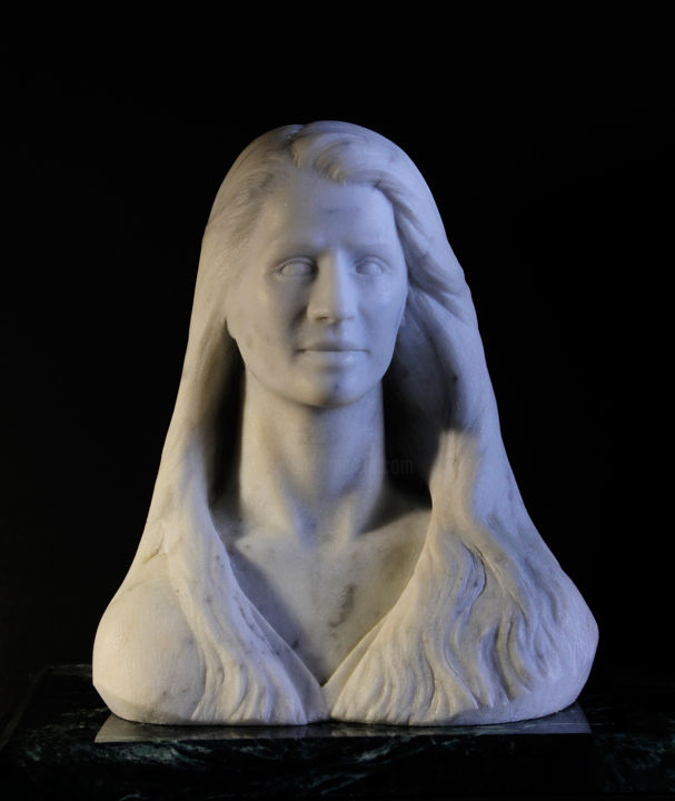 """Sculpture titled """"Lorie"""" by George Dapsevicius, Original Art, Stone"""