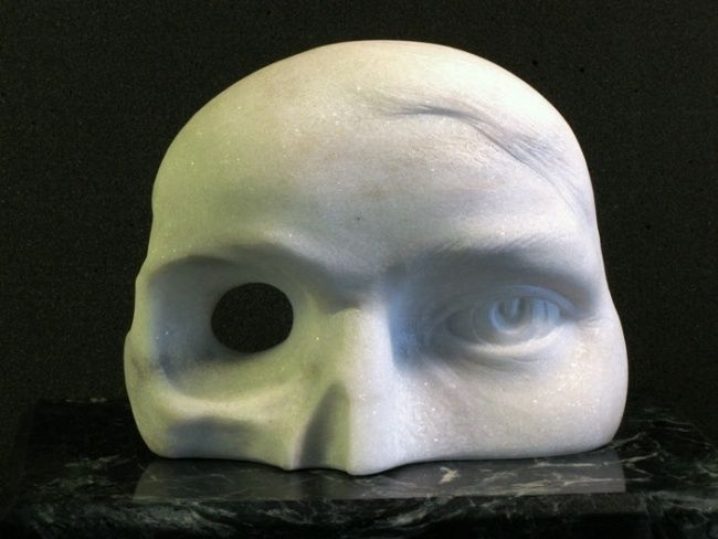 """Sculpture titled """"Eyepiece skeletal s…"""" by George Dapsevicius, Original Art, Stone"""