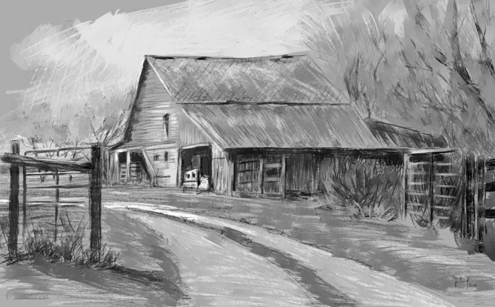 the old barn artes digitais por georg ireland artmajeur