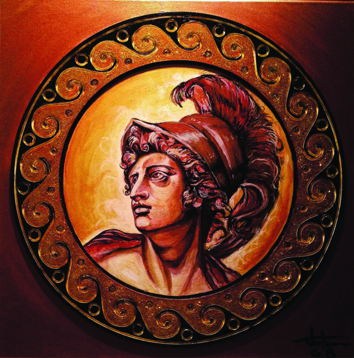 """Painting titled """"ALEXANDER THE GREAT"""" by George Balmus, Original Art, Acrylic"""
