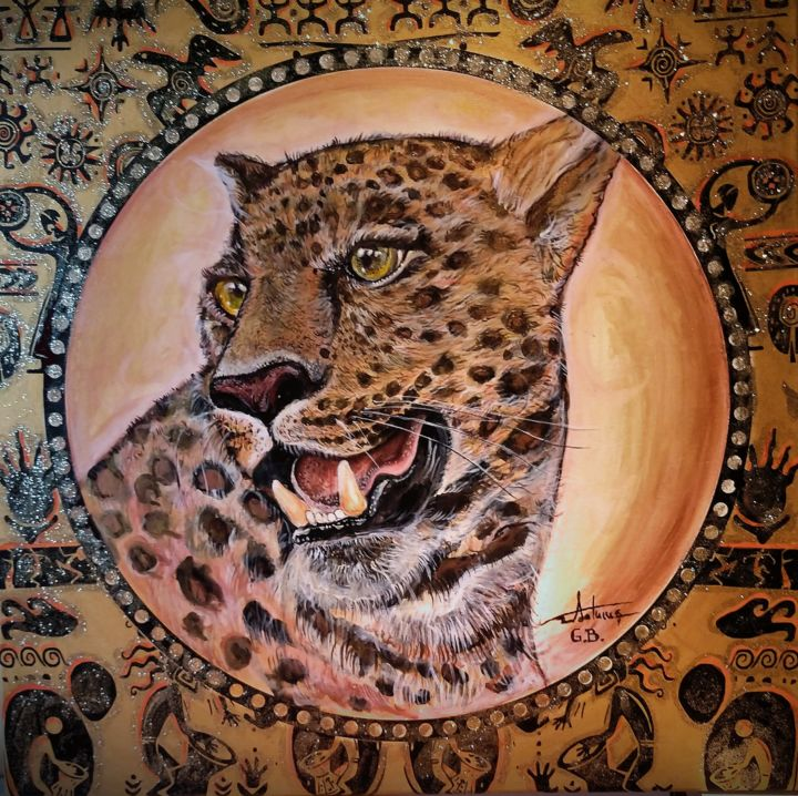 """Painting titled """"The Leopard"""" by George Balmus, Original Art, Acrylic"""