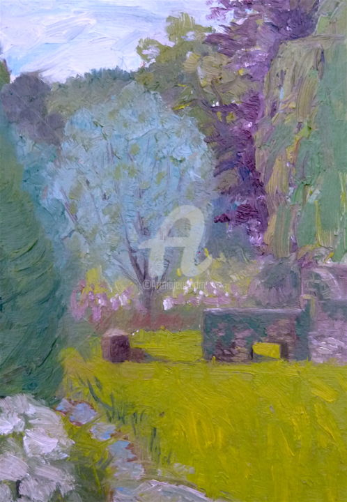Little Garden, Arford (14) - Painting,  8x6 in ©2017 by Georgina Rey -
