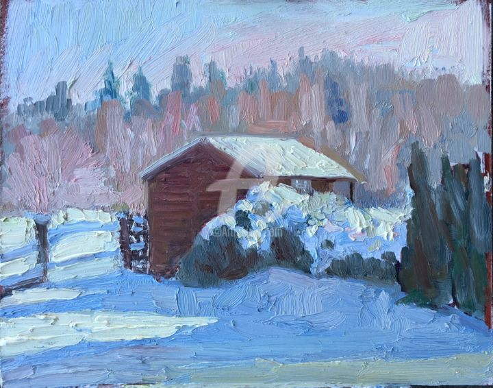 Hut in the Snow Large - © 2019  Online Artworks