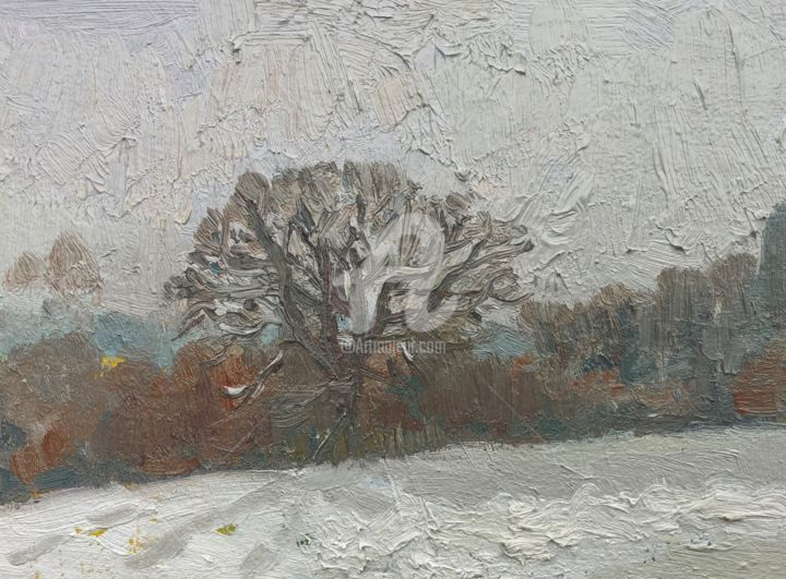 The Old Oak Tree - Painting,  8x6 in ©2019 by Georgina Rey -                                        Other, Landscape