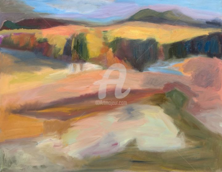 Little Forest - Painting,  39.4x55.1x2 in, ©2020 by Georgina Rey -                                                                                                                                                                          Expressionism, expressionism-591, Landscape