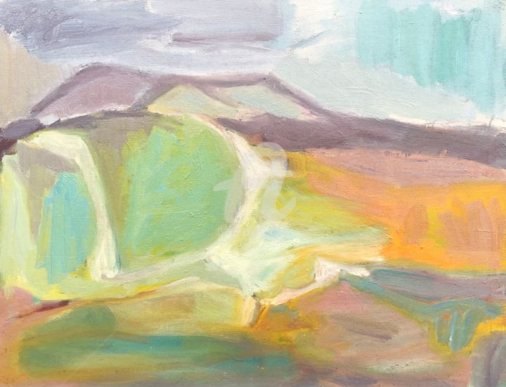 Landscape Painting, oil, abstract, artwork by Georgina Rey
