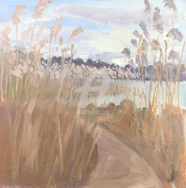 """Painting titled """"Path through the Re…"""" by Georgina Rey, Original Art, Oil"""
