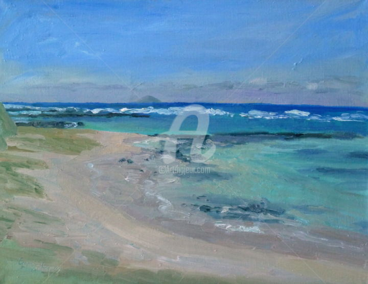 Little Bay TDD - Painting,  19.7x25.6x1.6 in, ©2016 by Georgina Rey -