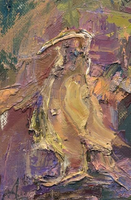 Птица/Bird - Painting,  20x30 cm ©2012 by Anastasiya Georgievskaya -                            Abstract Expressionism, птица, Bird