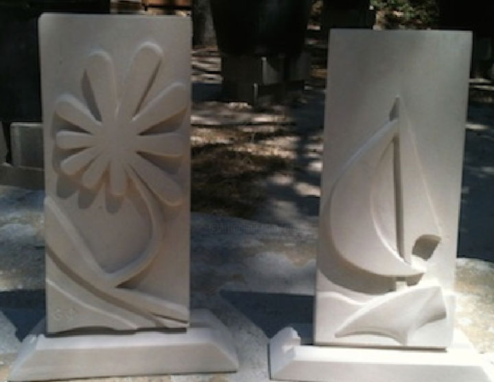 plaques-decoratives.jpg - Sculpture, ©2014 by Gepsy -                                                              Stone