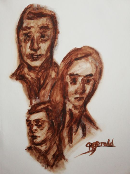 """Painting titled """"Family Generation"""" by Gerald Berger-Champion, Original Art, Acrylic"""