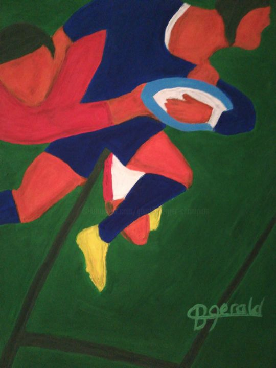 """Painting titled """"Rugby Six Nations"""" by Gerald Berger-Champion, Original Art, Acrylic"""