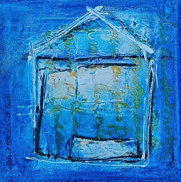maison act1sc5 - Painting,  4.7x4.7 in, ©2006 by Géraldine ENTIOPE -