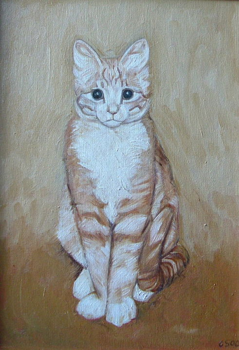 Cat Sketch - Painting, ©2006 by Gerald Shepherd -                                                                                                                                                                          Figurative, figurative-594, Animals