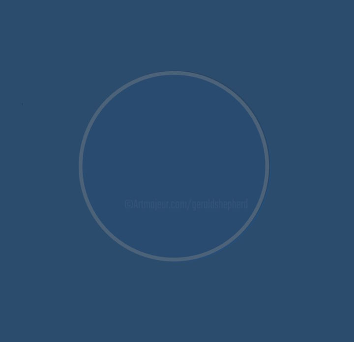 Blue Circle On Blue Ground - Eclipsed Version - ©  abstract, circle Online Artworks