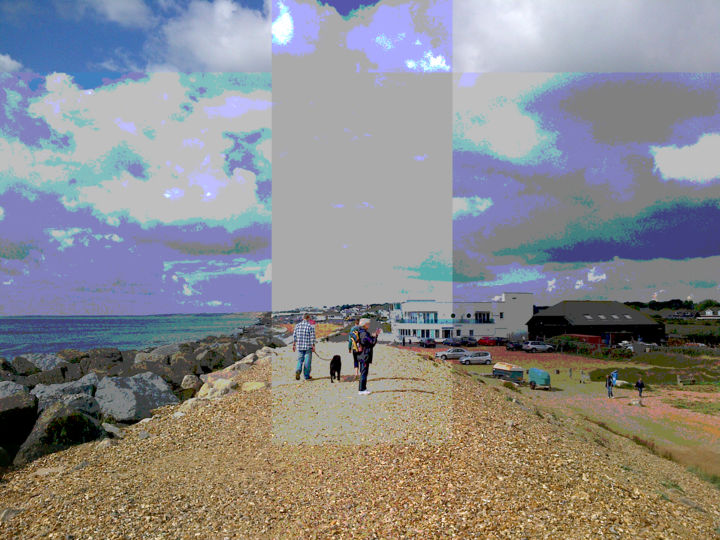 The Past Is Moving Away - ©  seaside, portrait, photographic effects Online Artworks